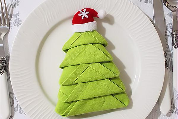 Super Come piegare i tovaglioli a forma di albero di Natale? HR22