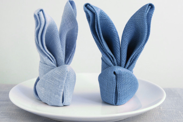 spesso Come piegare i tovaglioli a forma di coniglio? OL17