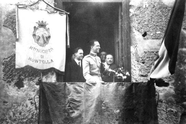 Umberto II di Savoia al municipio di Montella nel 1936