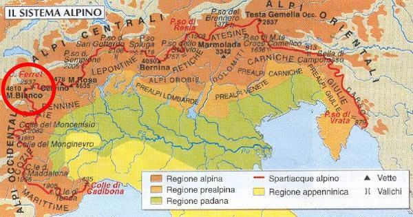 Monti Ditalia Cartina.Qual E Il Monte Piu Alto D Italia