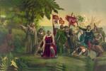 Arrivo di Cristoforo Colombo a San Salvador