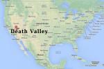 Il punto A indica dove si trova la Valle della Morte