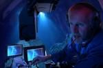 James Cameron durante l'immersione nella Fossa delle Marianne