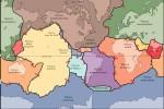 Mappa delle placche tettoniche terrestri