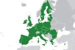 Mappa dei 28 paesi membri dell'Unione europea
