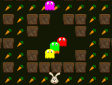Pacman di Pasqua - Easter bunny collect carrots