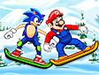 Sonic e Mario snowboard - Toon skiing