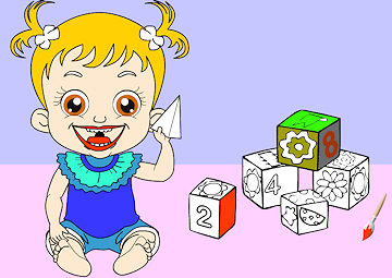 baby hazel coloring pages - photo#10