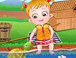 Hazel a pesca - Baby Hazel fishing time