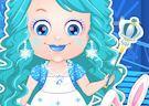 <b>Hazel principessa del ghiaccio - Baby hazel ice princess dressup
