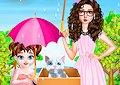 <b>Piccola Taylor con gattino - Baby taylor helping kitten