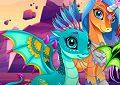 <b>Puzzle draghi e unicorni - Cute unicorns and dragons puzzle