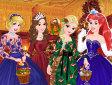 Vesti le principesse a Natale - Disney princess Christmas eve