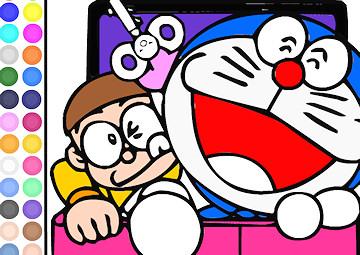 Gioco Colora Doraemon e Nobita