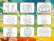 <b>Disegni da colorare di Pasqua - Easter coloring book