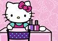 <b>Smalto con Hello Kitty - Hello kitty nail salon