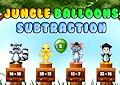 <b>Sottrazioni con animali e palloncini - Jungle balloon subtraction