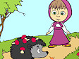 <b>Dipingi Masha - Masha and bear online coloring
