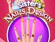 <b>Manicure sorelle Frozen - Sisters nails design