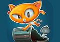 <b>Il gatto e le lische di pesce - Trash cat