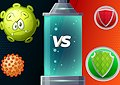 <b>Combatti contro il virus - Virus fight