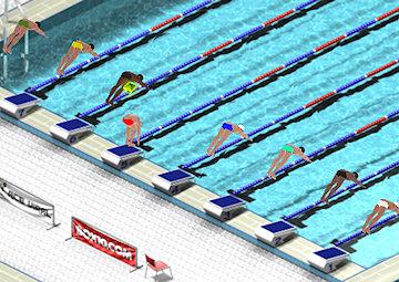 Gioco gara di nuoto for Gioco di piscine