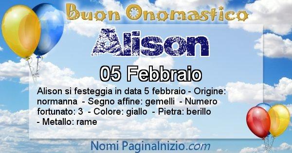 Nome Alison