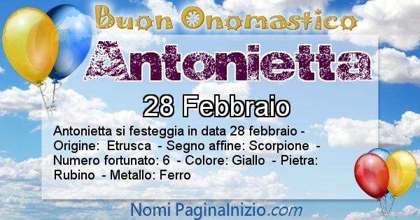 Nome Antonietta