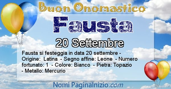 Nome Fausta