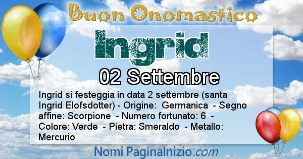 Nome Ingrid