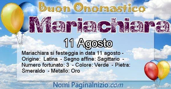 Nome Mariachiara