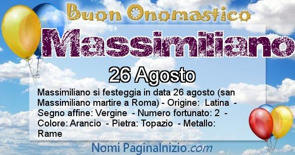 Nome Massimiliano
