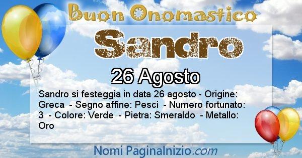 Nome Sandro