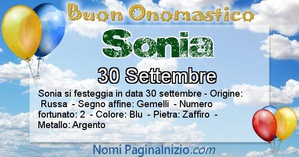 Nome Sonia