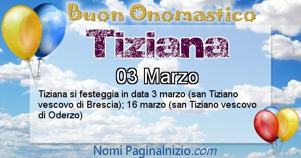 Nome Tiziana