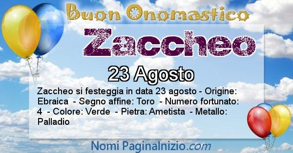 Nome Zaccheo