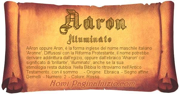 Nome Aaron