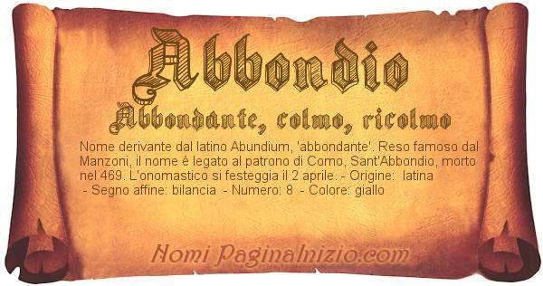 Nome Abbondio