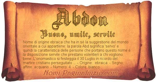 Nome Abdon