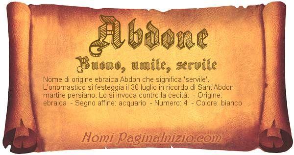 Nome Abdone