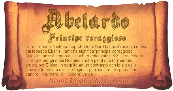 Nome Abelardo