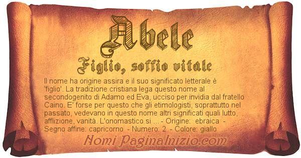 Nome Abele