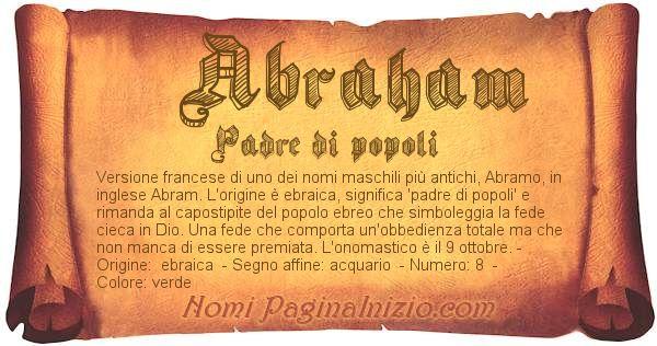 Nome Abraham