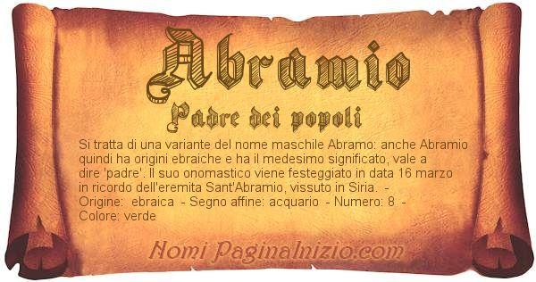 Nome Abramio