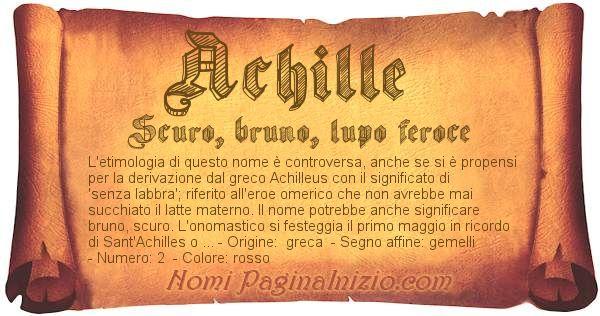Nome Achille