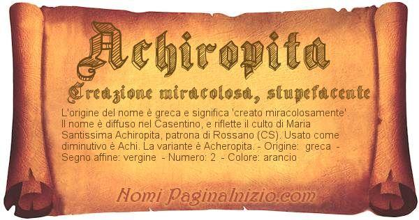 Nome Achiropita