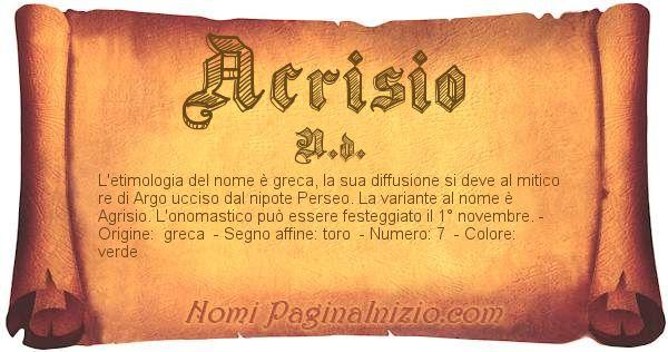 Nome Acrisio