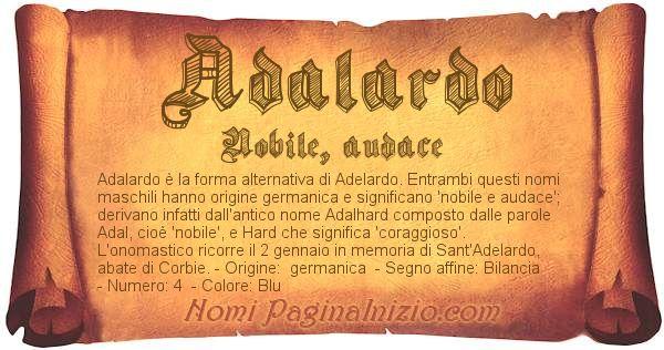 Nome Adalardo