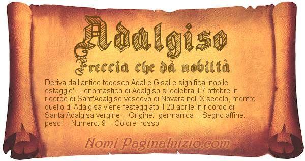 Nome Adalgiso
