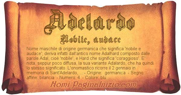 Nome Adelardo